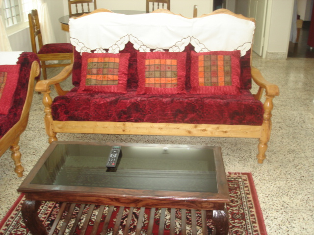 sofa in homestay fort cochin