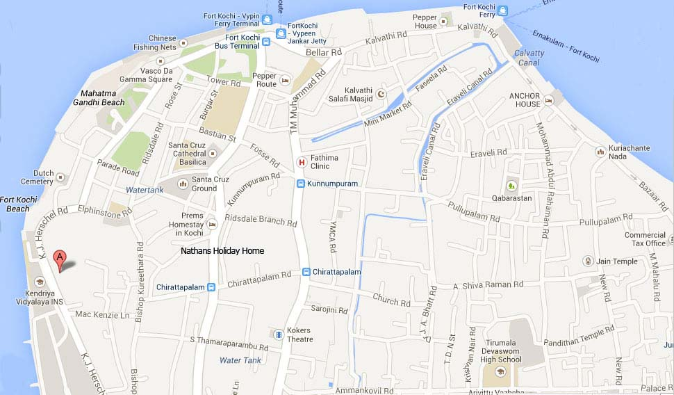 map of fort cochin
