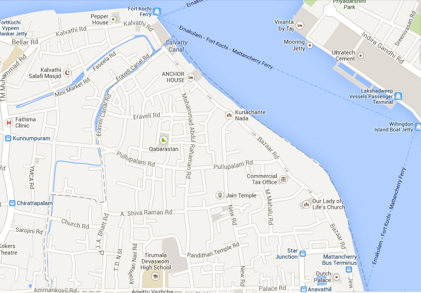 map of mattancherry