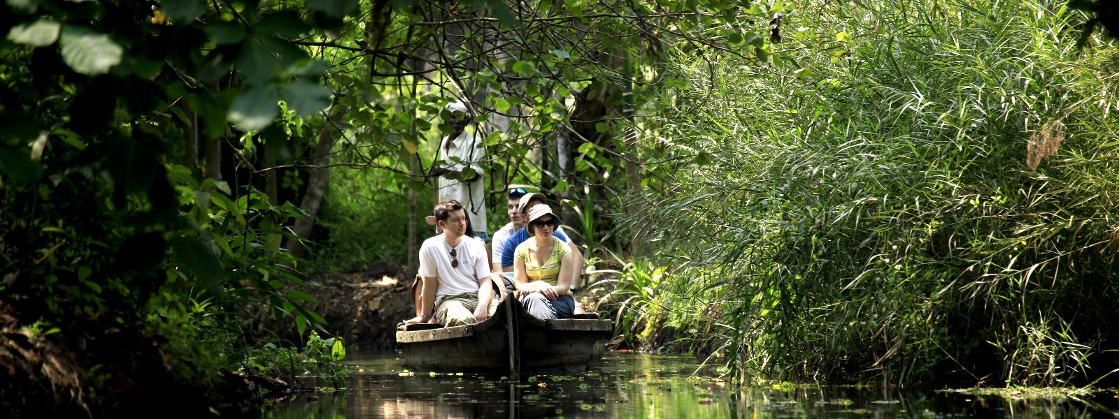 Picturesque country boat ride and village tour Kerala